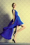 Attractive evening dress stock photography
