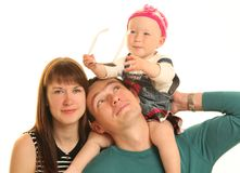 Attractive family Royalty Free Stock Photos