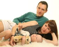 Attractive family Stock Photography