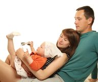 Attractive family Stock Images