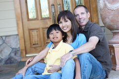 Attractive Family at Home Stock Images