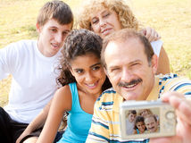 Attractive family pose for a self portrait Royalty Free Stock Photo