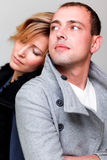 Attractive fashion couple Royalty Free Stock Photos
