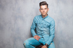 Attractive fashion man looking at the camera Royalty Free Stock Images