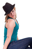 Attractive  fashionable girl posing Royalty Free Stock Photo
