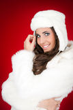 Attractive fashionable winter woman Royalty Free Stock Photo