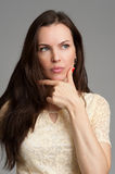 Attractive fashionable young brunette woman Stock Photography