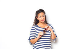 Attractive Fashionable Young Woman Royalty Free Stock Photos