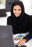 Arabic office worker. Attractive female Arabic office worker in office Royalty Free Stock Photo