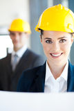 Attractive female architect Royalty Free Stock Images