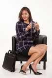Attractive female asian businesswoman Royalty Free Stock Photos