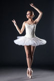 Attractive female ballet dancer posing in studio Stock Image