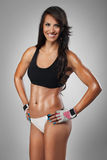 Attractive female bodybuilder Stock Photography