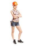 Attractive female carpenter Stock Photography