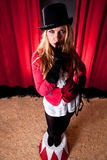 Attractive female circus artist Royalty Free Stock Image