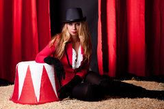 Attractive female circus artist Royalty Free Stock Photo