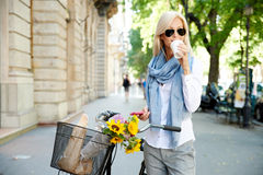 Attractive female in the city Royalty Free Stock Photography
