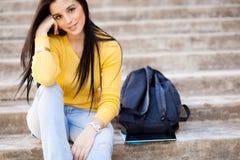 Attractive female college Stock Photos
