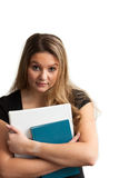 Student with books-waist up Stock Images