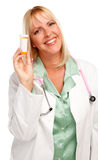 Attractive Female Doctor with Blank Prescription Royalty Free Stock Image