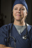 Attractive Female Doctor or Nurse Portrait Stock Images