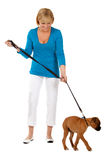 Attractive Female With Dog Royalty Free Stock Photo