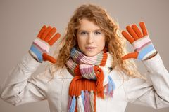 Attractive female dressed up for winter fun Royalty Free Stock Image