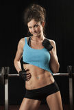 Attractive Female Fitness Model Royalty Free Stock Images