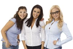 Female friends in glasses Royalty Free Stock Photo