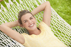 Attractive Female in Hammock Royalty Free Stock Photography