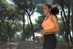 Attractive female jogger Stock Photo