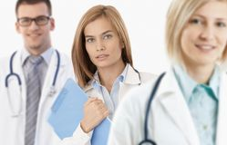 Attractive female medical student Stock Images