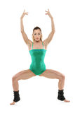 An attractive female pilates instructor Royalty Free Stock Photo