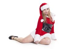 Attractive Female Santa Claus Royalty Free Stock Image