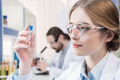 Attractive female scientist Stock Image