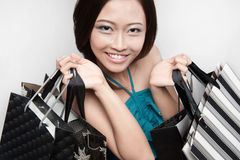 Attractive female shopper 2 Stock Photos
