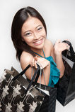 Attractive female shopper Stock Photography