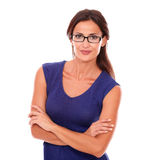 Attractive female with spectacles looking at you Royalty Free Stock Photo