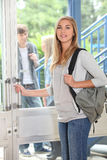 Attractive female student Royalty Free Stock Photos