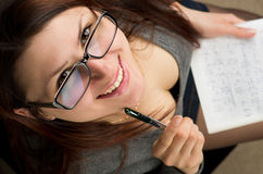 Attractive female student Stock Images
