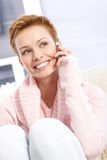 Attractive female talking on mobile Stock Photography