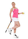 Attractive female tennis player Stock Image