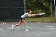 Attractive female tennisplayer Stock Photos