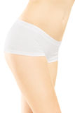 Attractive female in white cotton panties Royalty Free Stock Image