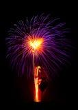 Attractive Firework with dark blackground Royalty Free Stock Image