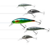 Attractive fishing lure. Only one fishing lure wobbler is interesting enough Stock Photo