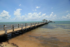 Attractive fishing pier and dock. In the Florida Keys Royalty Free Stock Photos