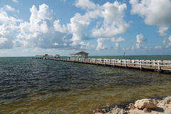 Attractive fishing pier and dock Stock Images