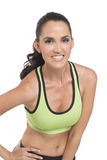Attractive fit woman in studio. An attractive fit woman wearing athletic wear, Photographed in studio Stock Image