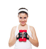 Attractive fitness girl workingout Stock Images